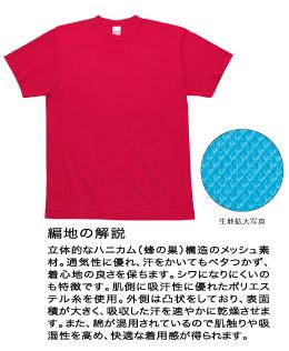 118-HMT 4.6オンス ハニカムメッシュTシャツ