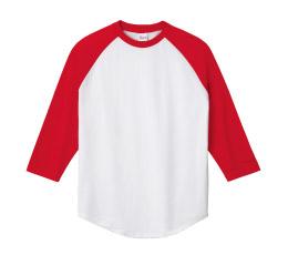 138-RBB 5.6オンス ラグラン3/4Tシャツ