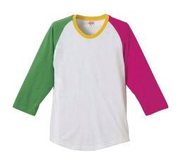 5404 5.0オンス ラグラン3/4スリーブTシャツ