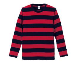 5519 5.0オンス ボーダーロングTシャツ